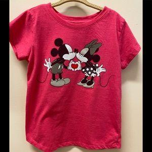 Disney girls Minnie and Mickey Mouse 6X tshirt